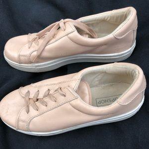 Nude pink top shop sneakers